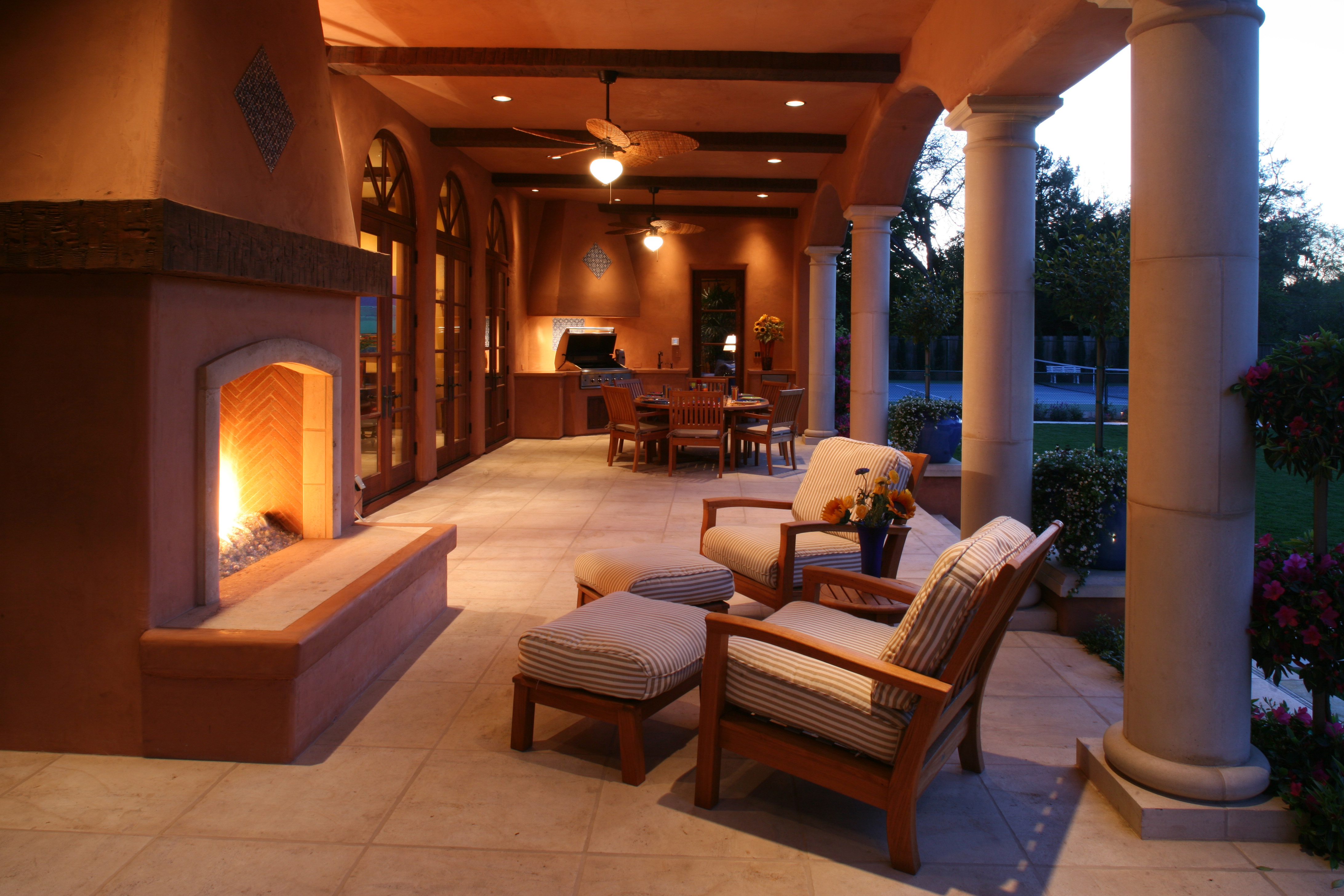 Covered Loggia Seating Area Michael Glassman Amp Associates