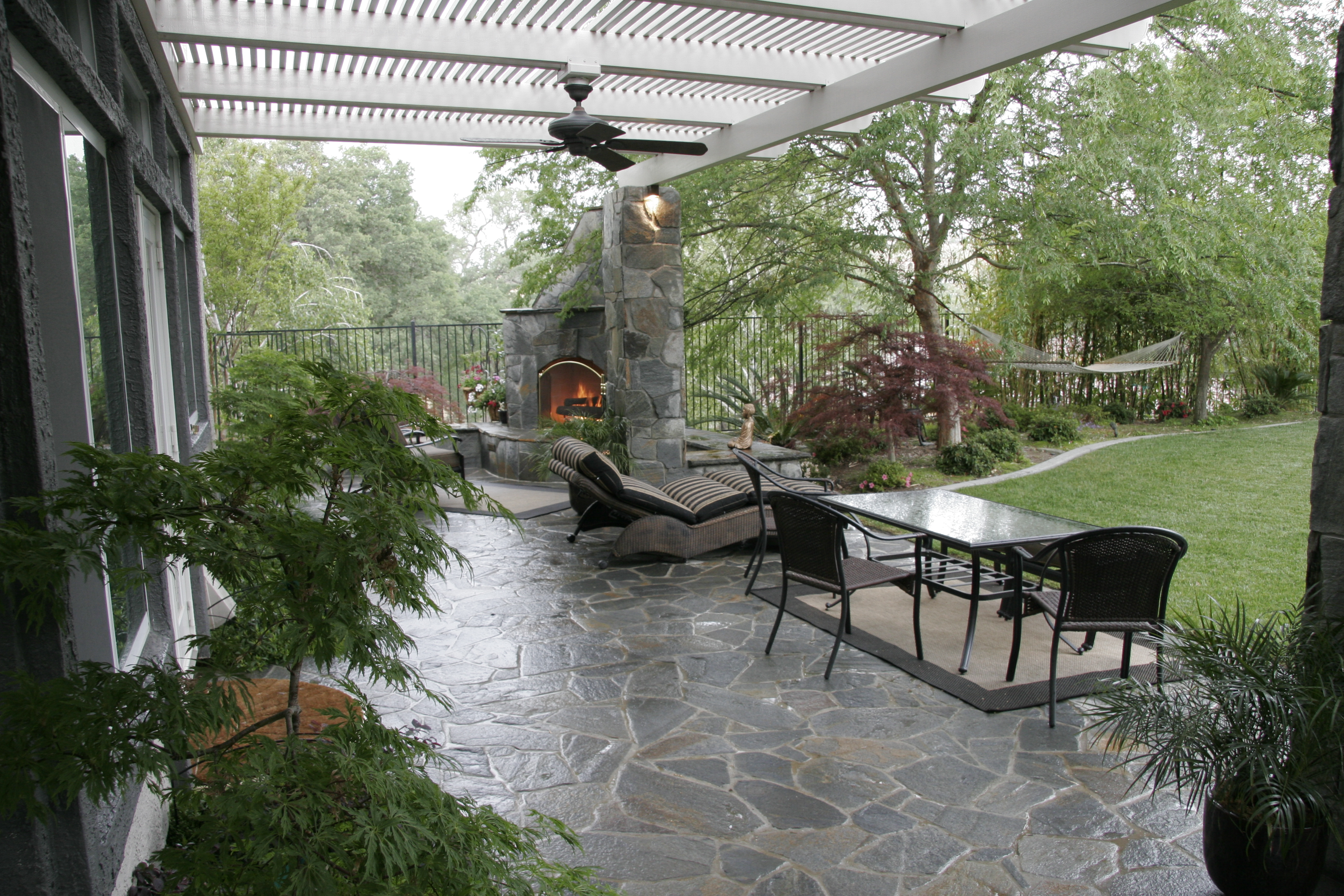 Pergola With Stone Columns Michael Glassman Amp Associates