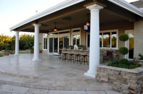 Loggia with outdoor kitchen michael glassman associates for Garden loggia designs