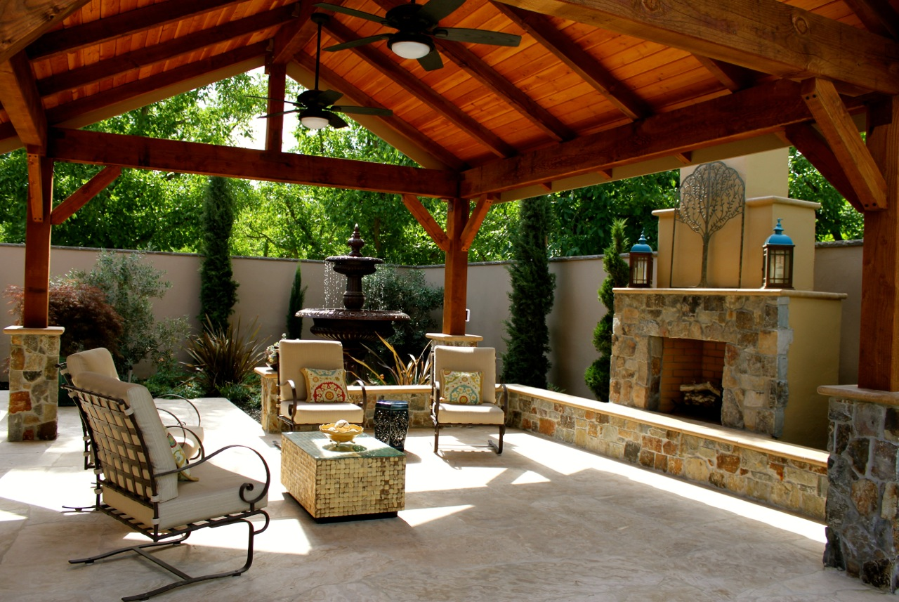 Ultimate outdoor gazebo michael glassman associates for Outdoor gazebo plans with fireplace